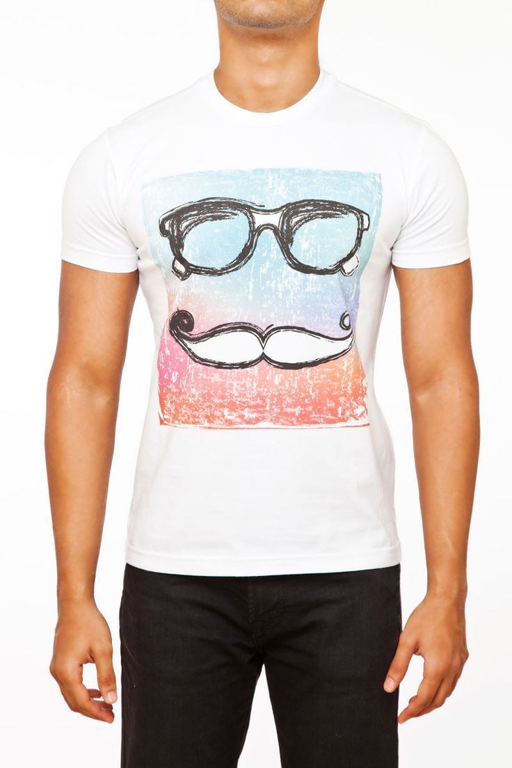 #FightingFame presents the Mister Hipster. 100% Cotton Graphic White T-Shirt. You know why you are here. @ FightingFame.com