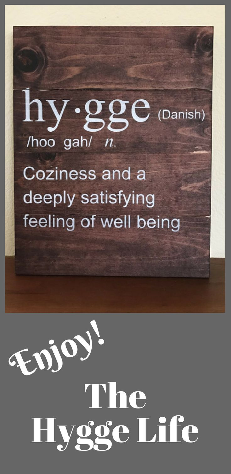 Hygge Definition Sign. | Hygge Life | Hygge Definition | Wood Sign | Home Decor | Handmade #ad