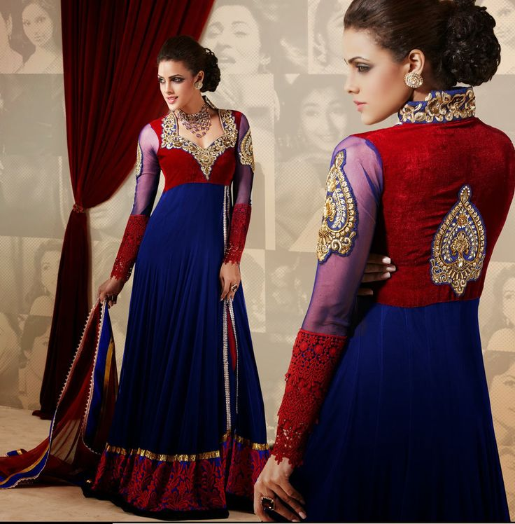 indian bollywood designer women bridal dress anarkali suit party evening ladies