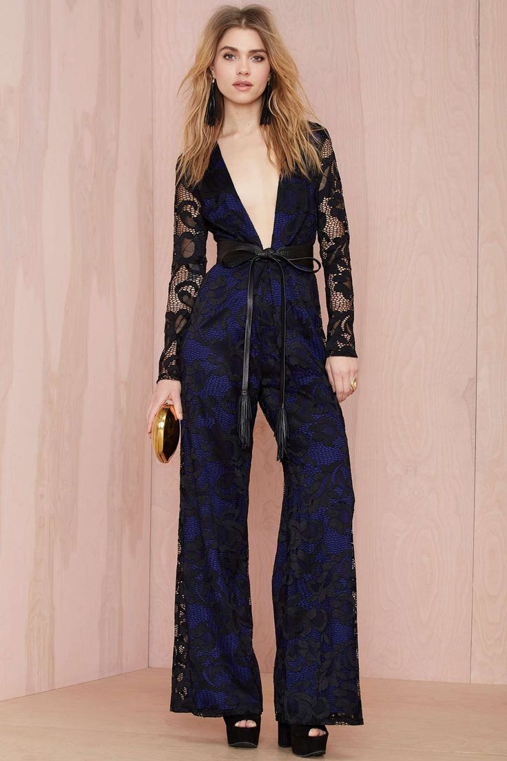 Nasty Gal Midnight Train Lace Jumpsuit | Shop Clothes at Nasty Gal