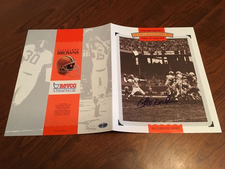 Otto Graham Cleveland Browns Hand Signed Autographed Photo Game Program RARE