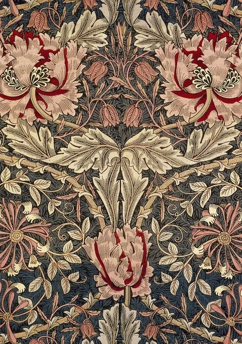 """Honeysuckle"" furnishing fabric Designer: William Morris (English, 1834-1896)Date: Made in 1876Medium: Block-printed cotton"
