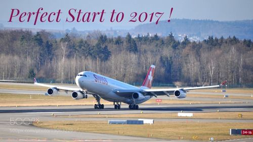 Happy New Year ! by markushaeni  airport aircraft flight fly airplane jet departure runway takeoff airliner Airbus Zürich Flughafen A