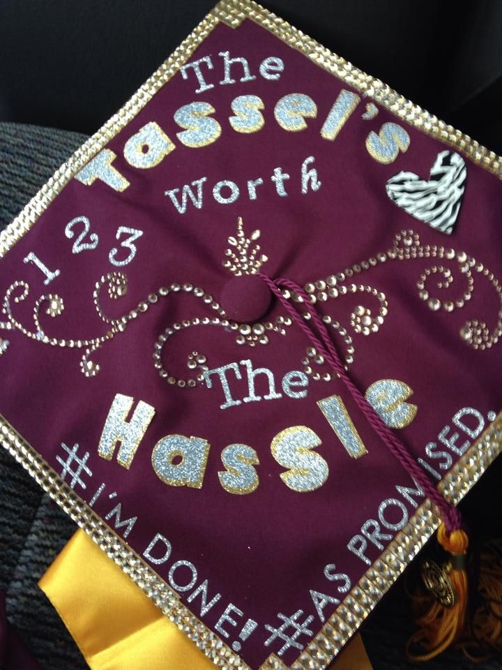 Check out Audrey Richardson's awesome grad cap! She was a triple major graduate from #ASU! #ASUSDFA