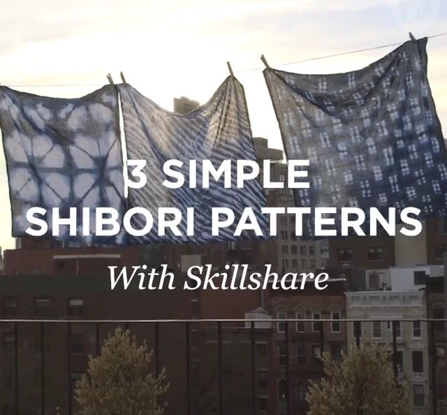 3 Simple Shibori Patterns