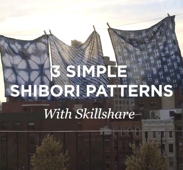 3 Simple Shibori Patterns: great short video on three different shibori techniques                                                                                                                                                                                 Más