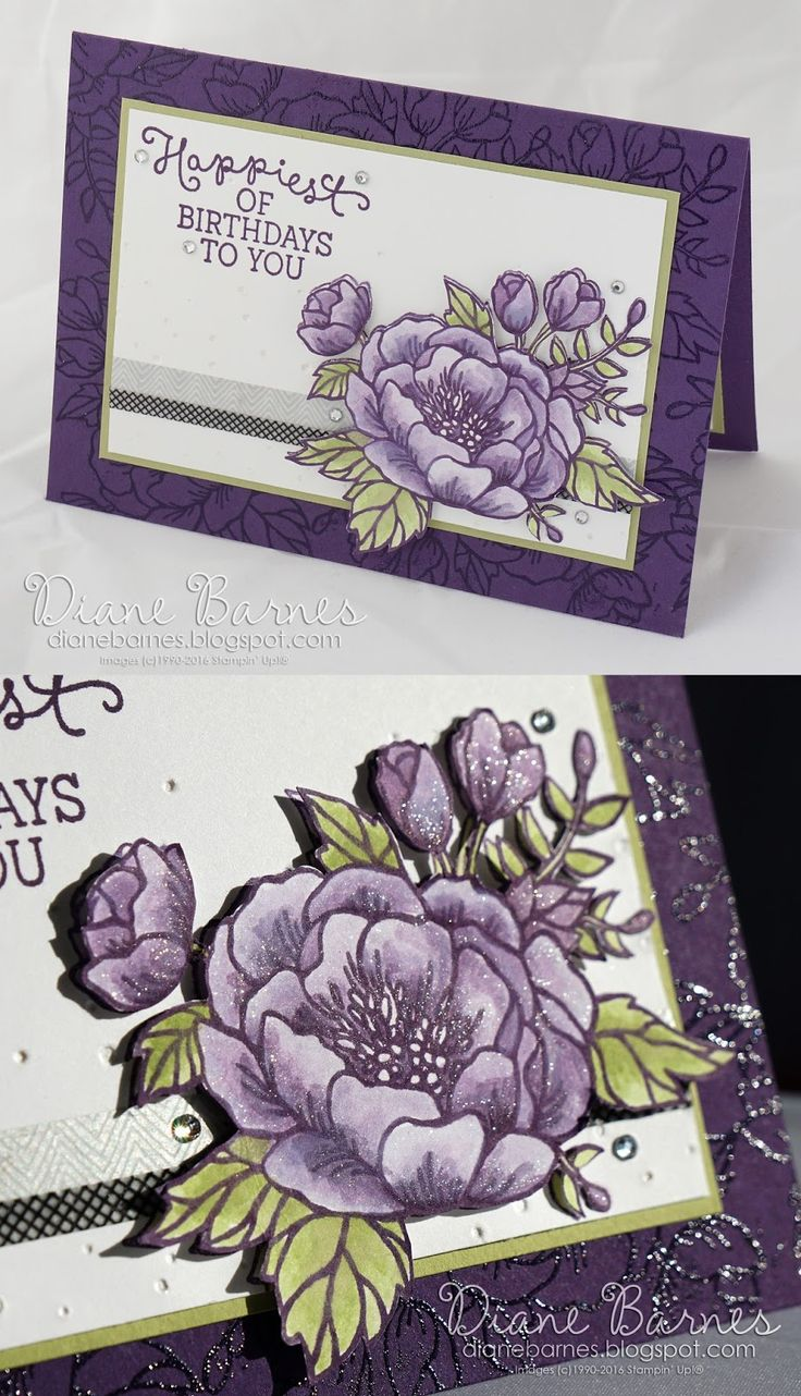 17 Best images about Cards Birthday Blooms – Pinterest Stampin Up Birthday Cards