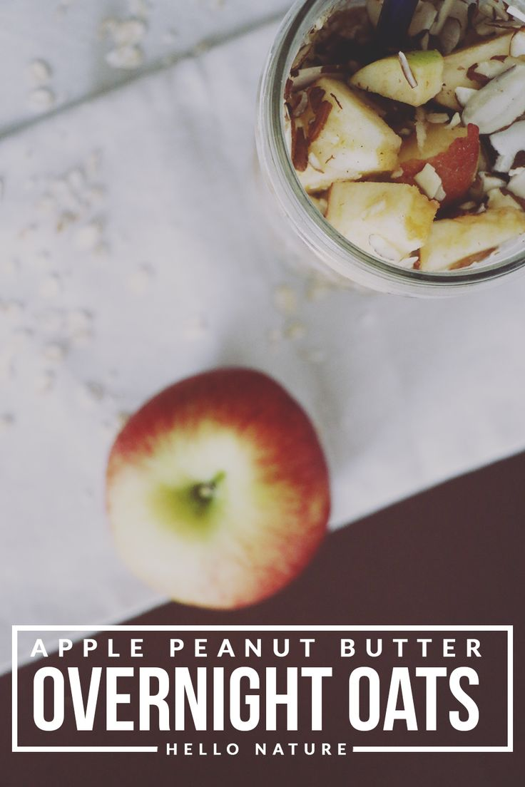 ... apple peanut butter overnight oats recipe. Great for busy mornings