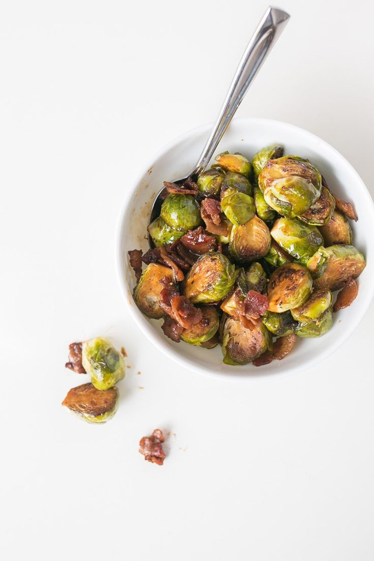 Brussels sprouts with crisp pan-fried bacon will tempt even the pickiest eaters.