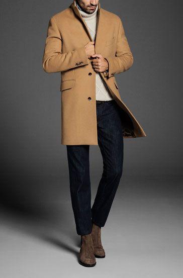 Mens Camel Cashmere Coat