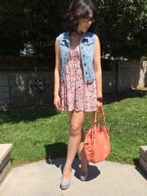 sundress and denim vest. perfect summer combo