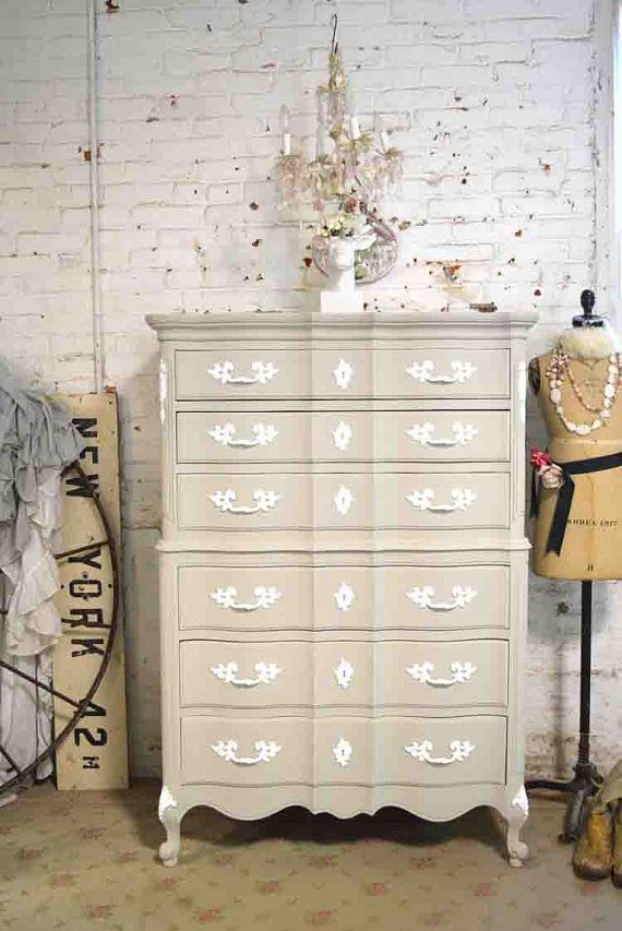 Painted Cottage Chic Shabby French Chest CH837 By Paintedcottages