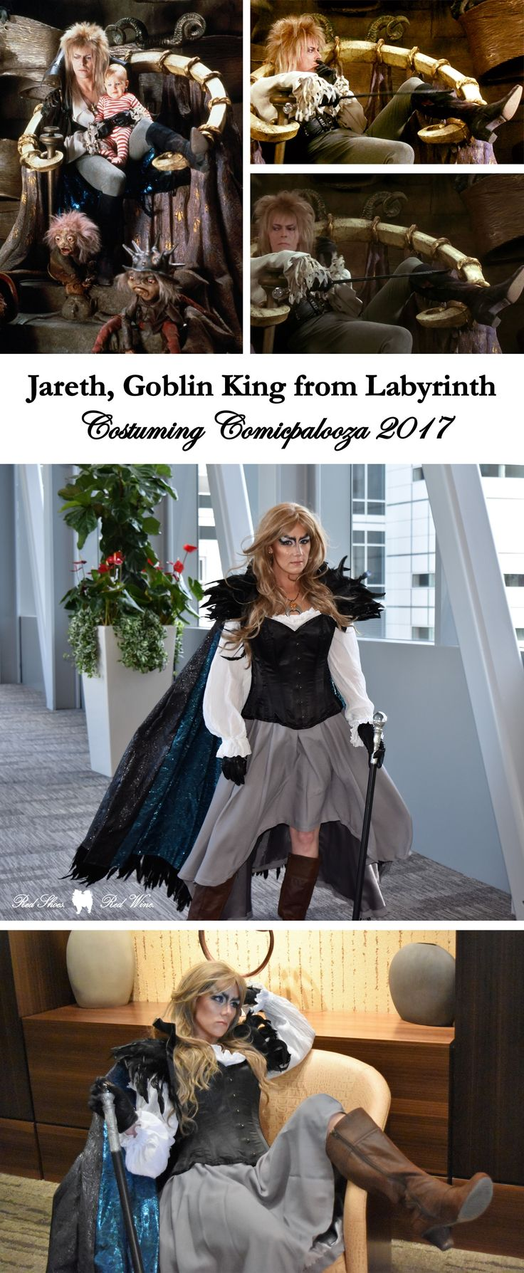 Costuming at Comicpalooza 2017: Jareth the Goblin King (Queen) from Labyrinth (Houston, DragonCon, Atlanta, comic, con, pop culture, Costuming, costume, cosplay, cosplayer, cosplaying, costumer, sew, sewing, hobby, hot glue, pattern, gender swap, gender bent, gender bend, femme, Sarah, Toby, babe, David Bowie, owl, dance magic dance)