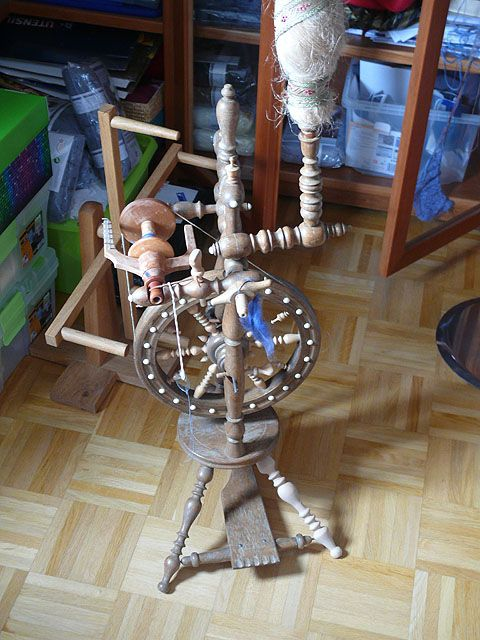 Antique Castle Style Spinning Wheel On Monika Eckert S