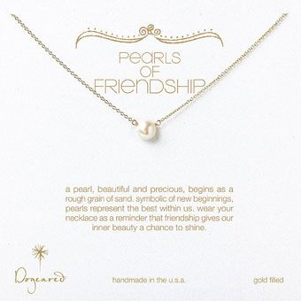 Single-pearl necklace from Dogeared as bridesmaid gifts under $100