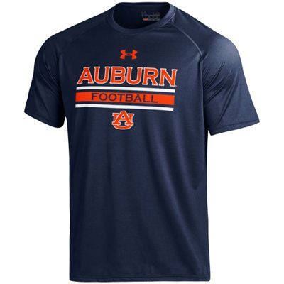 Men 39 s under armour navy auburn tigers football on field for Auburn tigers football t shirts