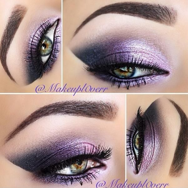 Purple eye makeup for green eyes makes your eyeballs pop!