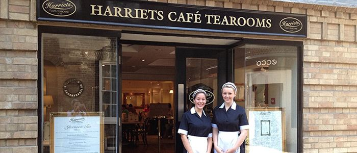A new tearoom to visit when in the UK...Harrietts Tea Room in Cambridge and Bury St. Edmunds. We love the retro waitress outfits!
