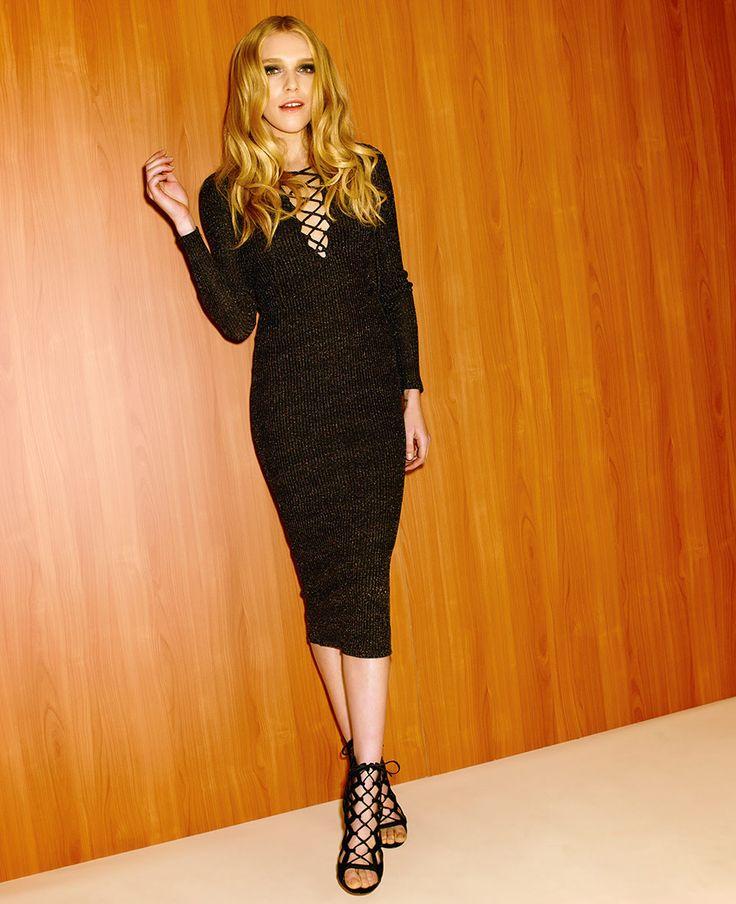 Romeo Lace Up Dress - Bardot