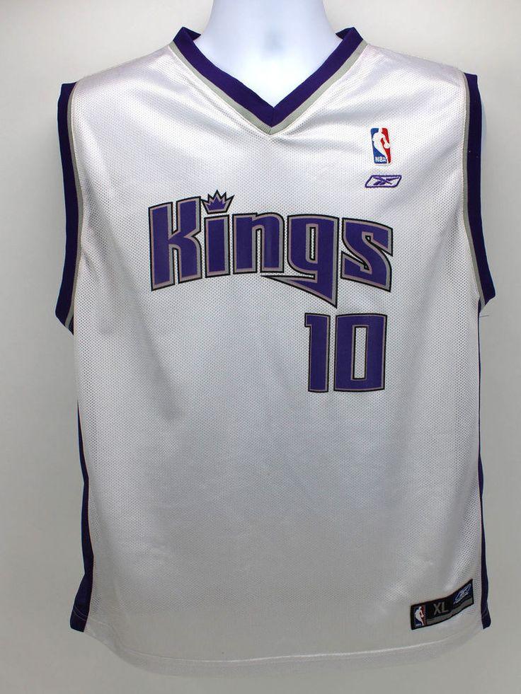 Sacramento Kings # 10 Mike Bibby Jersey Youth XL 18-20 Used #Reebok #SacramentoKings #Bibby #NBA #basektball