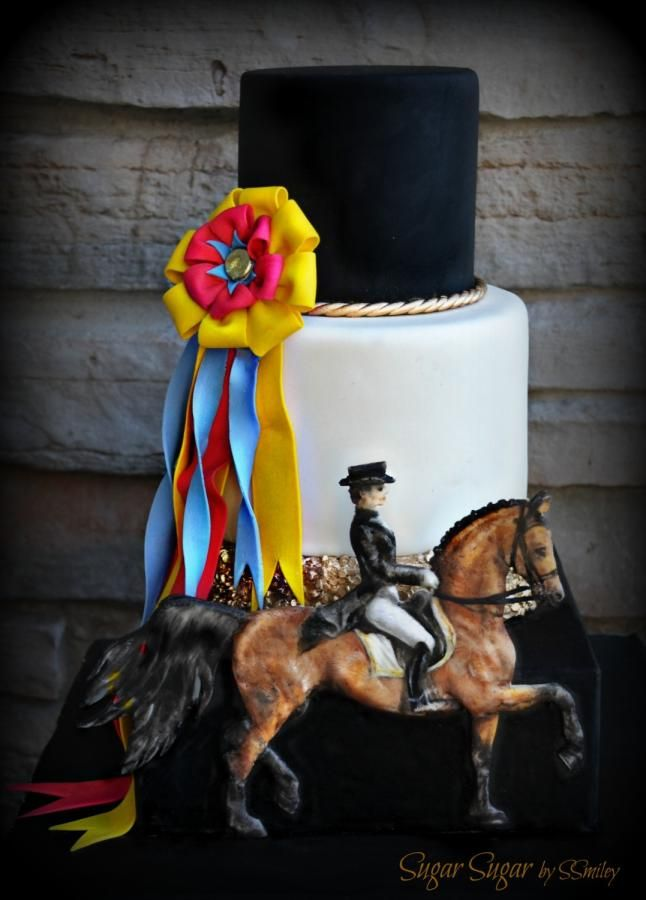 """Dressage"" - Sport Cakes for Peace Collaboration - http://cakesdecor.com/cakes/276211-dressage-sport-cakes-for-peace-collaboration"