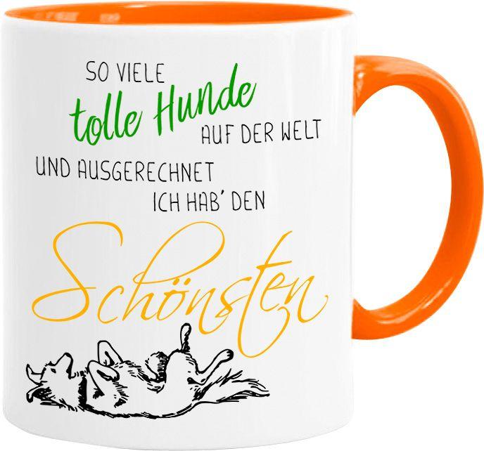 Kaffee-Tasse Spruch Hund so viele Hunde auf dieser Welt und ausgerechnet ich