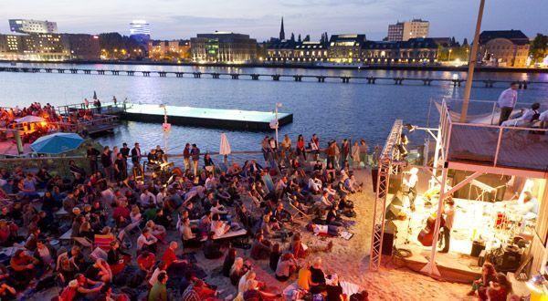 Berlin openair #sunset on the river #Sprea