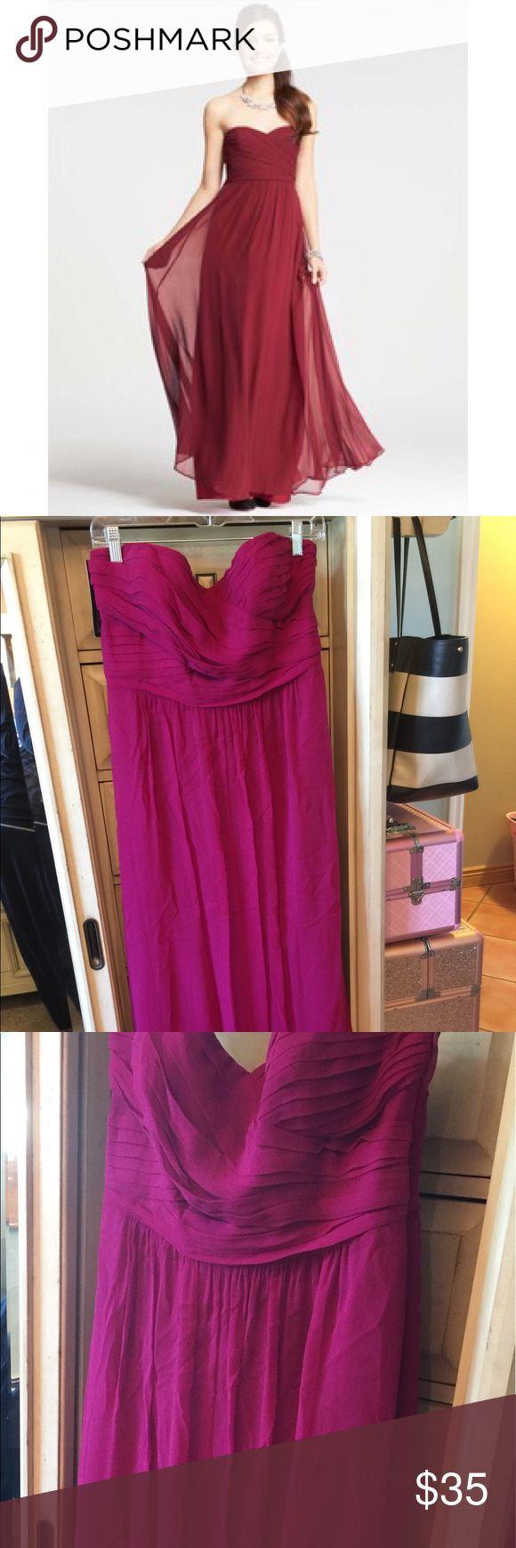 Ann Taylor silk georgette dress (magenta pink) Magenta color, floor length, ann taylor weddings collection. Ann Taylor Dresses Wedding