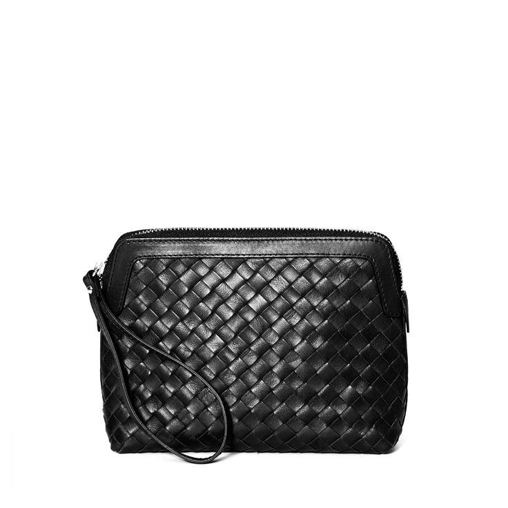 DECADENT 235 Woven make up purse Black