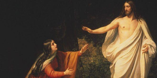 """Clic en la imagen y sigue la reflexión del Evangelio del día  Sábado de la XV Semana del Tiempo Ordinario  """"Lo reconoció""""  📖 Evangelio según San Juan 20, 1-2.11-18 El primer día de la semana, de madrugada, cuando todavía estaba oscuro, María Magdalena fue al sepulcro y vio que la piedra había sido sacada. http://www.cristonautas.com/index.php/evangelio-del-dia-lectio-divina-juan-20-1-2-11-18-2/"""