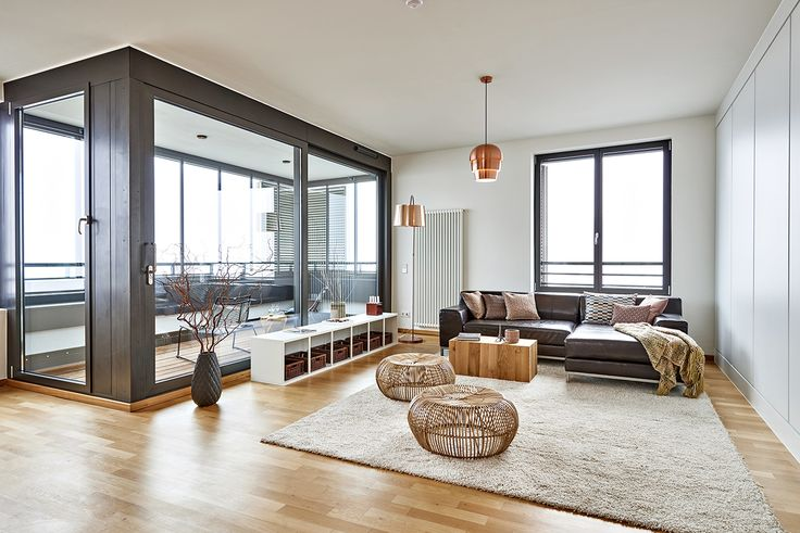 "An elegant lowboard in new living area ""Hafencity"" Hamburg"