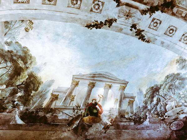 I soffitti affrescati nella Sala dei Poeti (Università di #Bologna Scienze Politiche, Strada Maggiore)