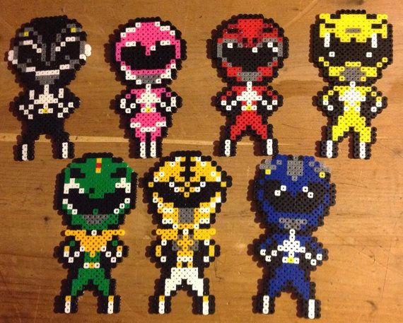 Mighty Morphin Power Rangers Perler Bead Sprites