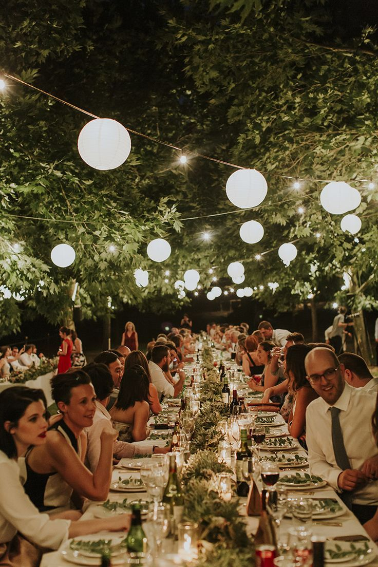 Tuscan inspired wedding reception with paper lanterns | Nectarine Photography