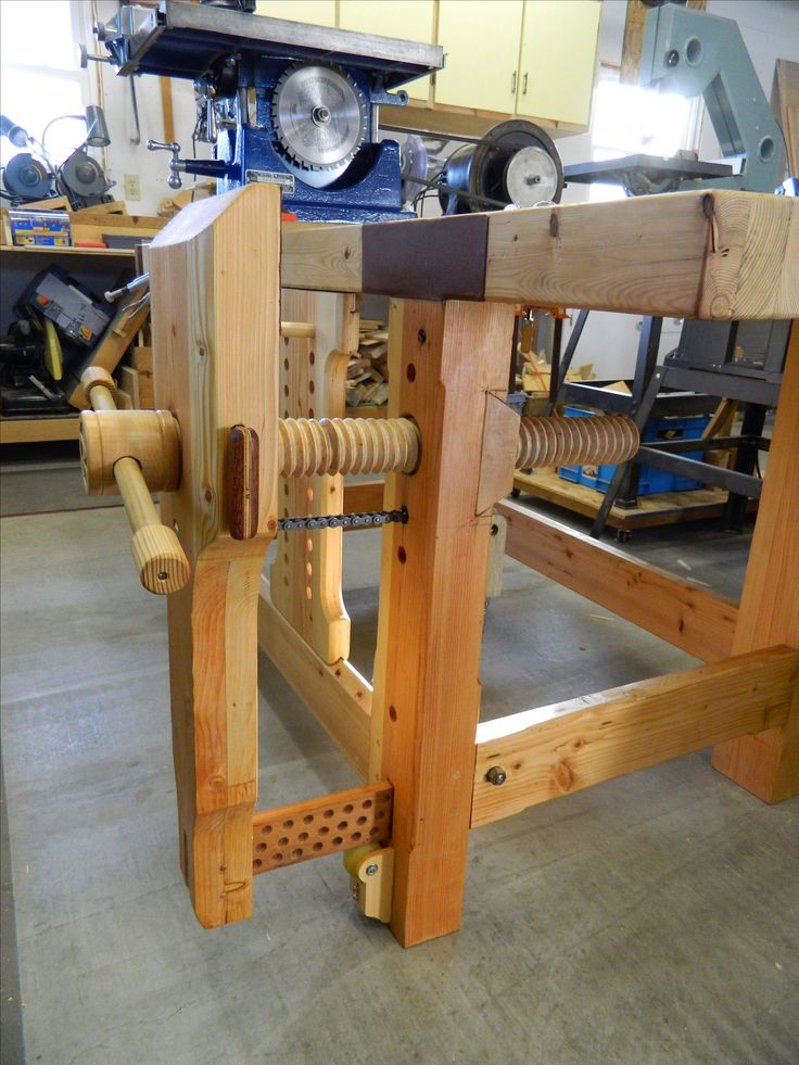 Woodworking bench leg vise with model style in thailand for Wood plans online
