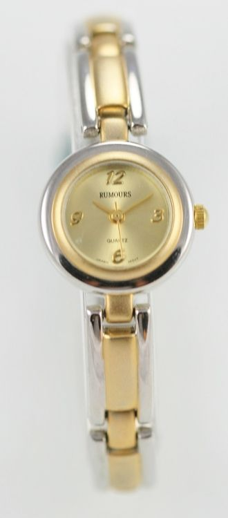 Rumours Watch Womens Stainless Steel Gold Silver Water Resistant Battery Quartz