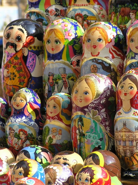 The Russian wood-carved nesting dolls called Matryoshka are not examples of a Russian folk art tradition, but are probably based on dolls brought in from Japan in rather recent history.