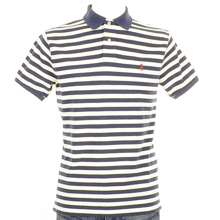 Ralph Lauren Short Sleeved Custom Fit Solid Weathered Mesh Fancy Stripe Polo T Shirt In Chic