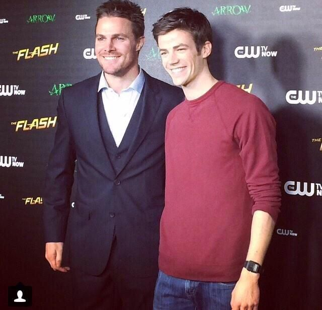 Stephen Amell and Grant Gustin ♥
