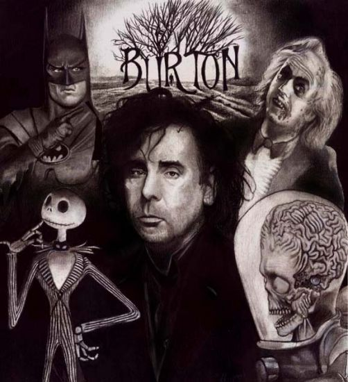Tim Burton, admired by me for seeing the world differently and not being afraid to show it to people