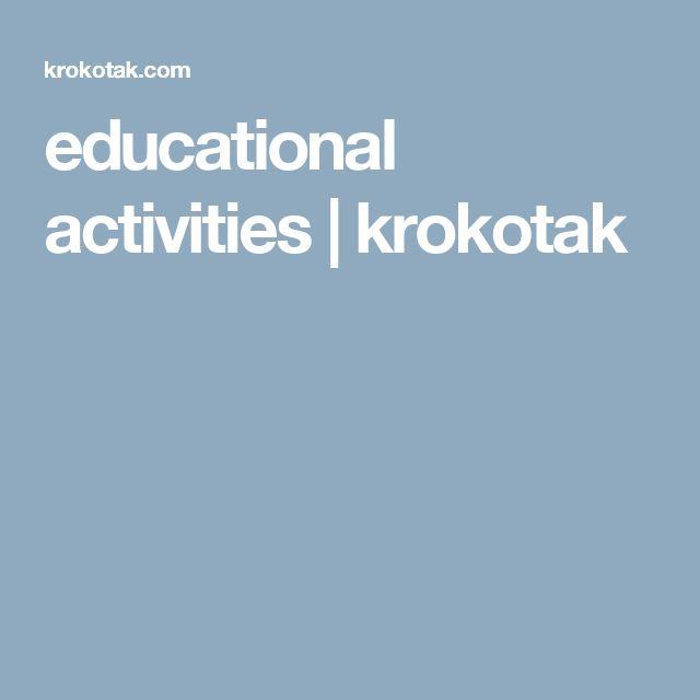 educational activities | krokotak