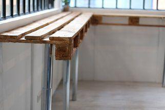 Tuto: une table haute en palettes
