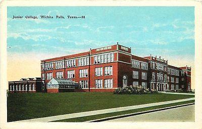 Wichita Falls Texas TX 1920s Wichita Falls Junior College Vintage Postcard