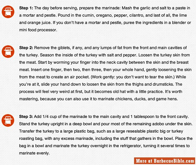 Get the entire recipe at http://barbecuebible.com/recipe/turkey-adobo/#.UoaJF5RbVt-