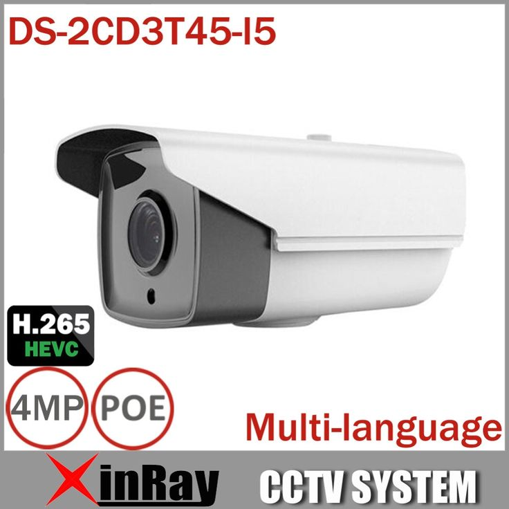 82.00$  Buy here - http://alixtt.worldwells.pw/go.php?t=32463675156 - High-Quality Multi-Language DS-2CD3T45-I5 Full HD 4MP Support H.265 HEVC For Home Seurity 50M IR Range POE IP CCTV Camera 82.00$