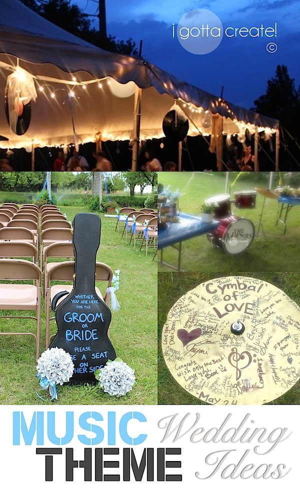 Beautiful music theme #wedding ideas and outdoor wedding. | Inspiration & Tutorials at I Gotta Create!