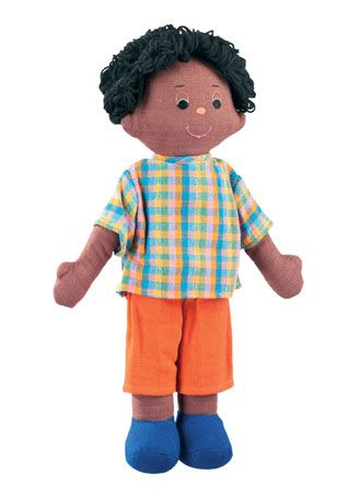 We have a lovely selection of multicultural rag dolls that represent a range of ethnic skin types. Female version also available.