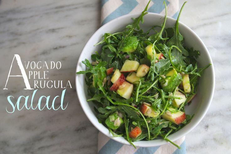 avocado apple and arugula salad