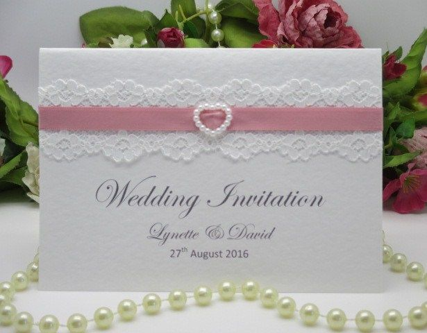 C0044 A6 Pure Innocence White Lace Wedding Evening Invitation, Vintage Lace Wedding Cards Available from www.vintagelaceweddingcards.co.uk Any design on our website may be adapted to suit your occasion