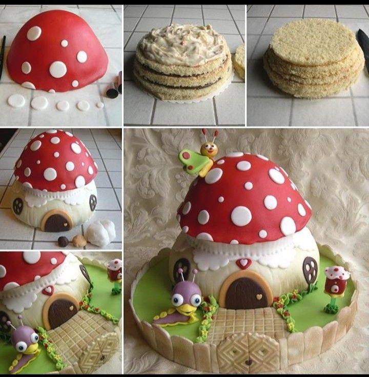 Cake Decorations Diy Man : gateau en forme de champignon original :D cuisine ...